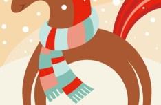 Happy New Year 2014 Horse Design Vector 01