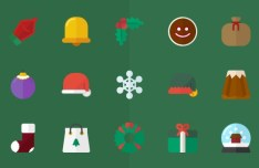 15 Flat Vector Christmas Icons