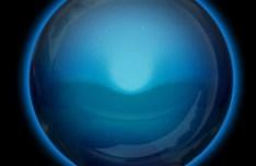 Blue Glossy Orb PSD