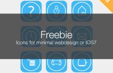 Flat iOS 7 Style Icon Set Vector