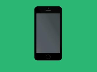 Minimal Space Grey iPhone 5S Mockup PSD