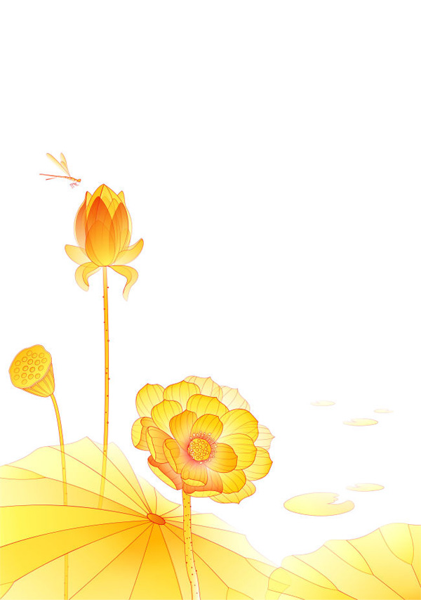 Free Hand Drawn Yellow Lotus Flower Vector Illustration Titanui
