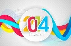 Creative New Year 2014 Design Vector 02