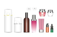 Set Of Vector Cosmetic Bottles and Jars