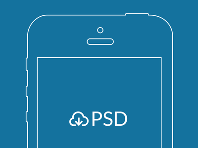 iPhone Wireframe Template PSD