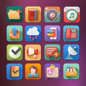 5 O'clock Shades Icons