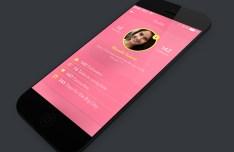 iPhone Teen App UI Kit PSD