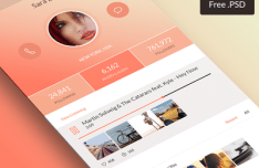Fashion Mobile App Design Concept PSD