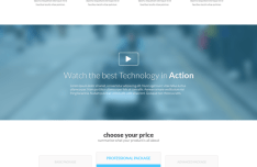 Bazinger Landing Page Template PSD