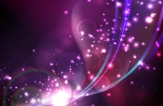 Purple Abstract Lights & Halos Background Vector