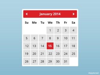 Minimal Calendar Widget PSD