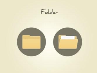 Simple Folder Icons PSD