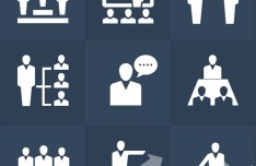 Human Resources Icons Set PSD