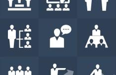 Human Resources Icons Set PSD