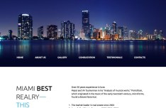 Miami Concept Fashion Website Template PSD