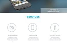 One Page Portfolio Theme PSD