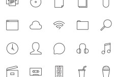 Stripes & Co Line Icon Set Vector