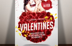 Valentine's Day Flyer PSD
