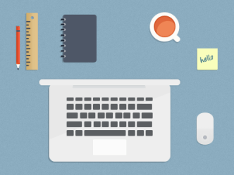 Set Of Flat Desktop Objects PSD