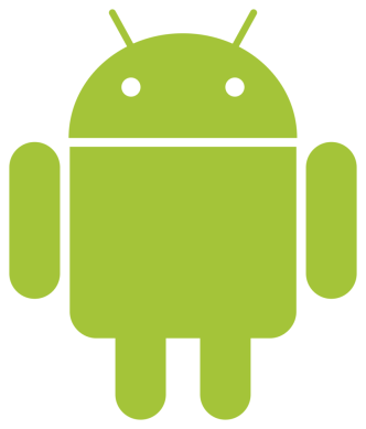 Simple Android Robot Logo Vector PSD