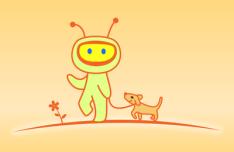 Spacebaby Vector Illustration