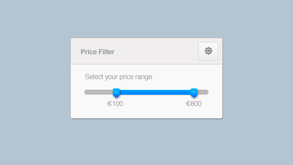 Clean Price Range Slider PSD