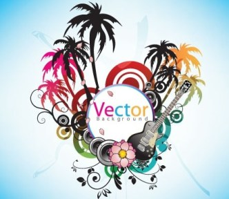 Music Art Grunge Background Vector 05