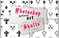 Skull Pattern Set Photoshop Pattern
