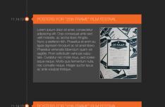 Timeline UI Element Vector