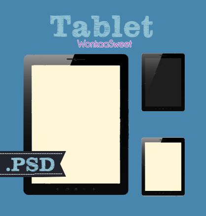 Free Set Of Tablet Templates Psd Titanui