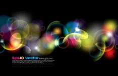 Colorful Abstract Bubbles Background Vector 02