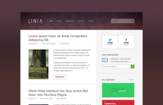Linia Magazine Blog Theme PSD
