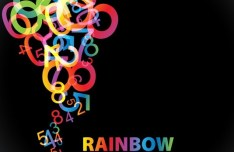 Rainbow Numbers Background Vector