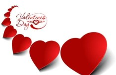 Vector Valentine's Day Red Hearts