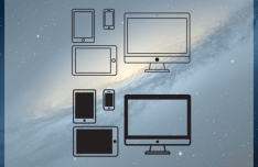 Set Of Simple Apple Product Icons Vector