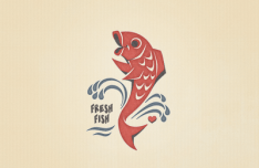Vintage Fresh Fish Vector