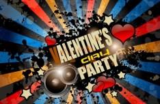 Grunge Valentine's Party Flyer Template