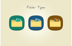 3 Folder Type Icons PSD