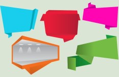 Creative Flat Corner Ribbons Vector