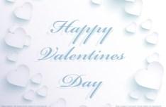 Happy Valentine's Day White Hearts Background Vector