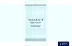 Nexus 5 Grid Template PSD