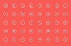 Fanicons - 40 Thin Line Icon Set
