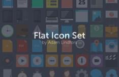 Flat Square Web Icon Set