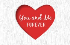 You and Me Forever Vector Heart