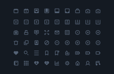 54 Thick Line Icons Vector