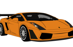 Lamborghini Gallardo Vector PSD