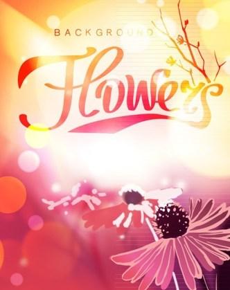 Fantastic Shiny Flower Background Vector 02