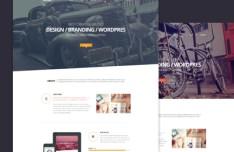 MINI OnePage Creative Template PSD
