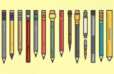 Colored Pencils Vector Illustration