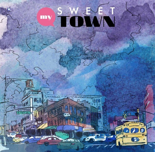 Sweet Town Vector Illustration 02